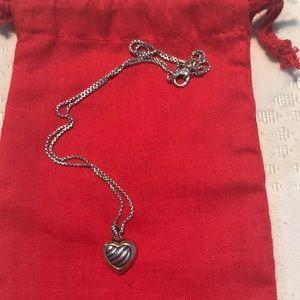 David Yurman heart necklace.